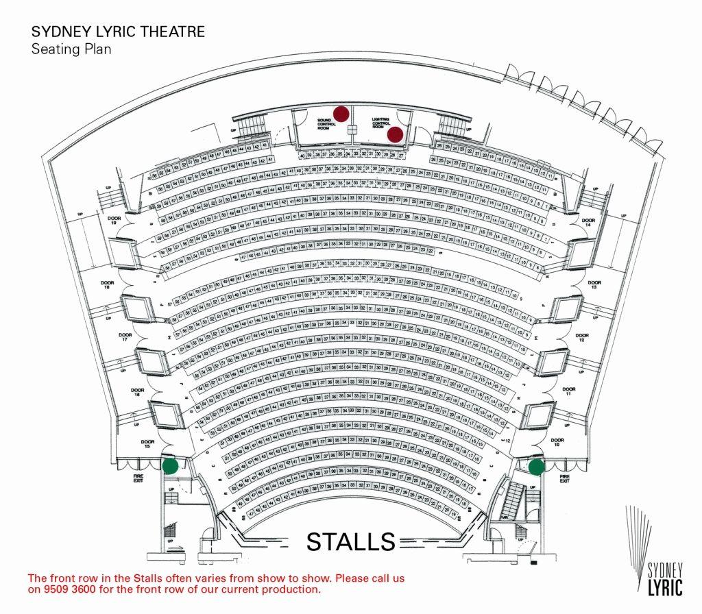 Amazing Qpac Lyric Theatre Seating Plan Seating Plan How To Plan Theater Seating