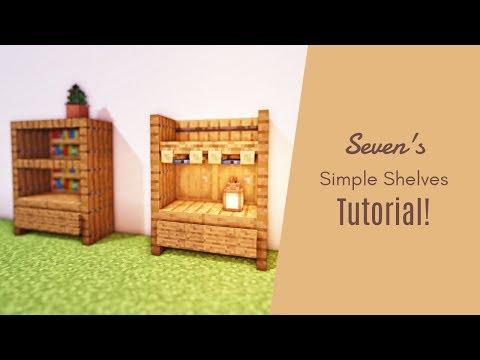 マインクラフト 簡単な2種類の棚の作り方 家具 内装 Youtube