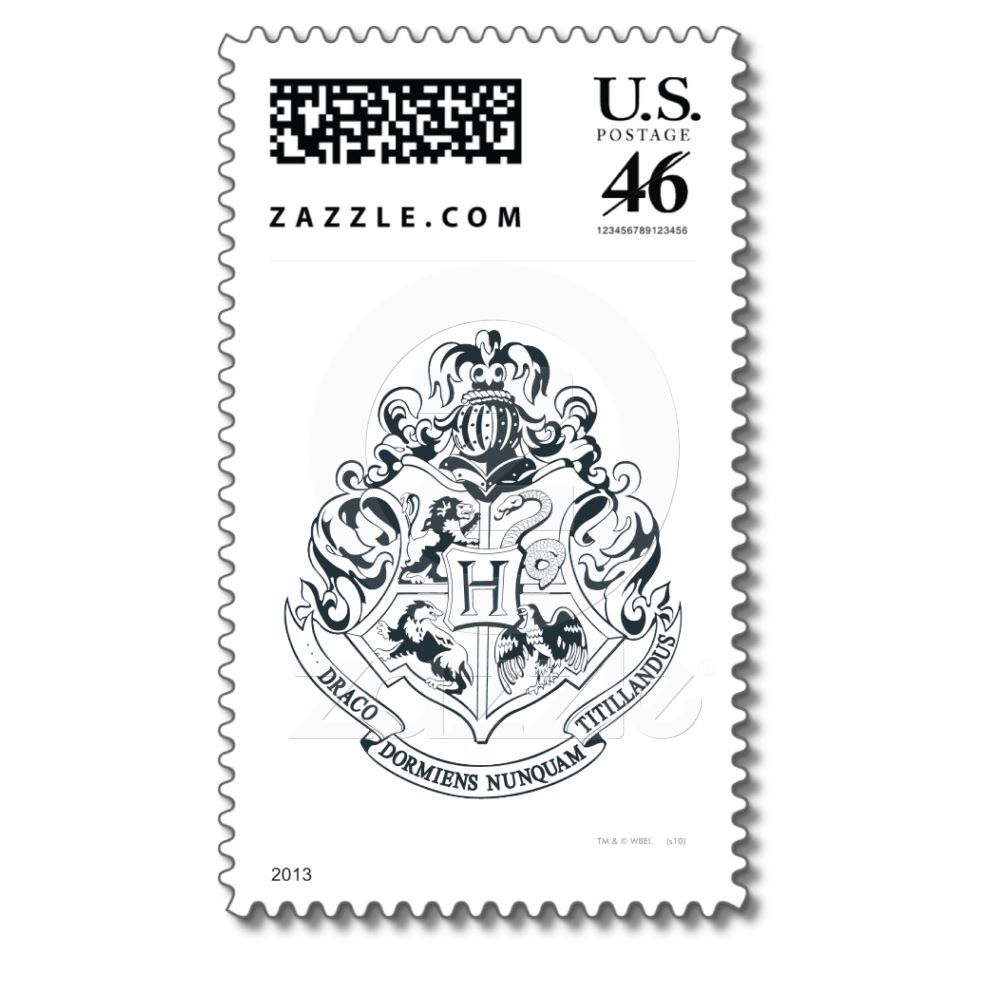 Ahhhhh Hogwarts Crest Stamp From Zazzle Com Hogwarts Crest Harry Potter Miniatures Hogwarts