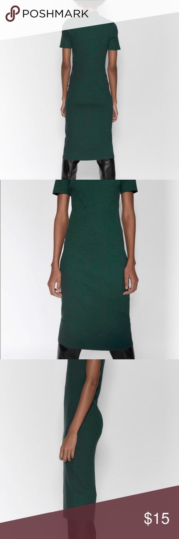 Nwt Zara Ribbed Dress Green S Nwt Zara Ribbed Dress High Collar Shorty Sleeves Long Below Knee Dress Color Green Siz Ribbed Dresses Green Dress Knee Dress [ 1740 x 580 Pixel ]