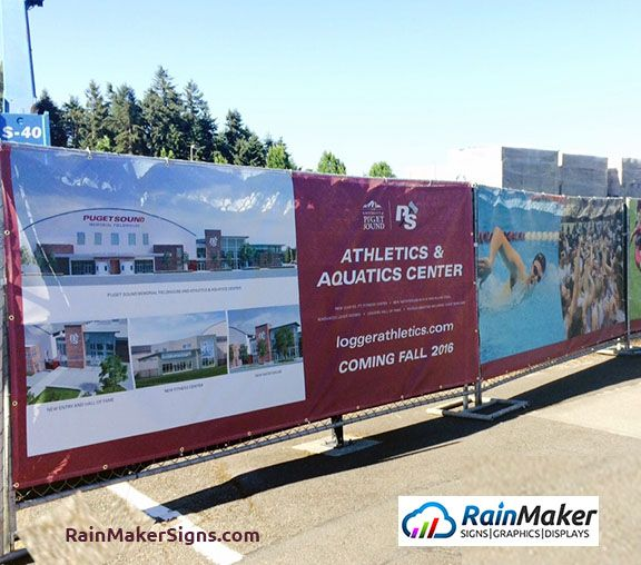 Mesh Banners For Construction Sites Rainmaker Signs
