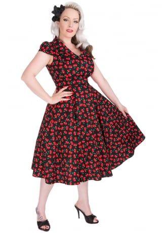 a5f5ce00cddce51b91f1e31a83dcaba8 h&r london h&r london black cherry blossom dress cherries,H R London Womens Clothing