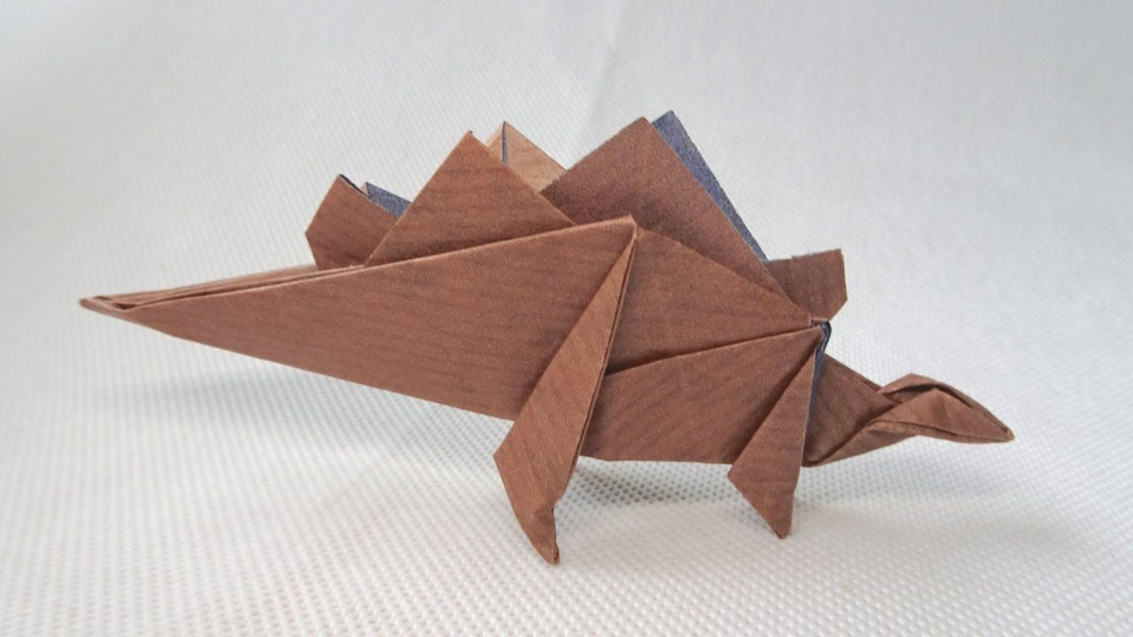 Photo of ORIGAMI DINOSAUR STEGOSAURUS | Paper Dinosaur