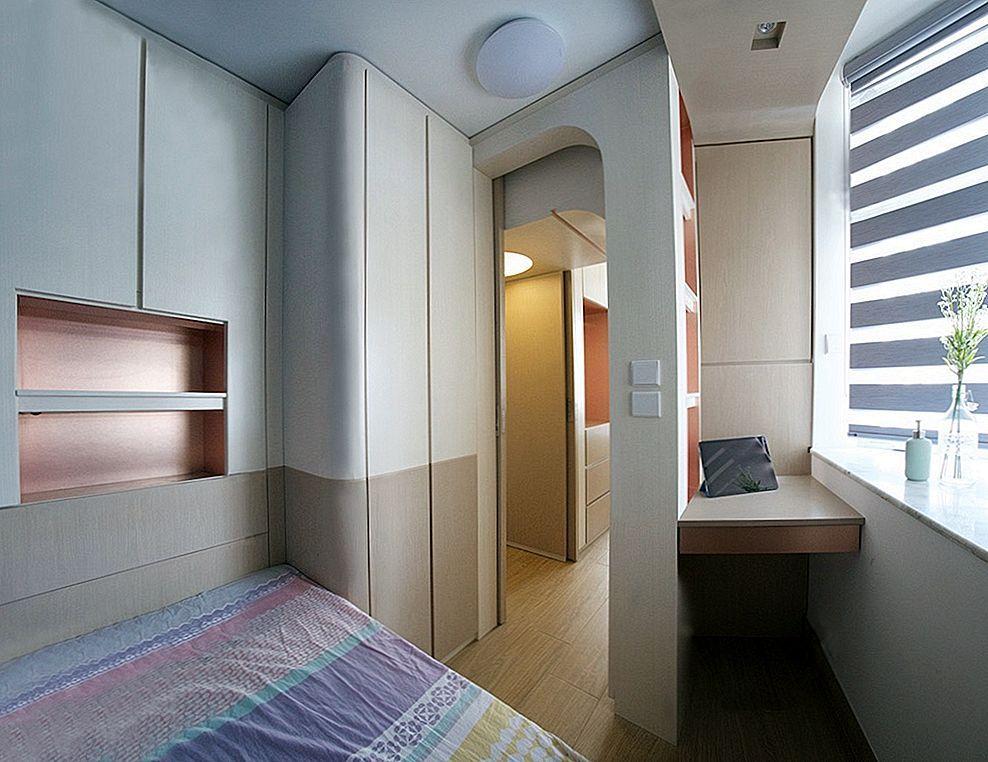 A Studio Apartment Gets Harmonized Using Custom Furniture
