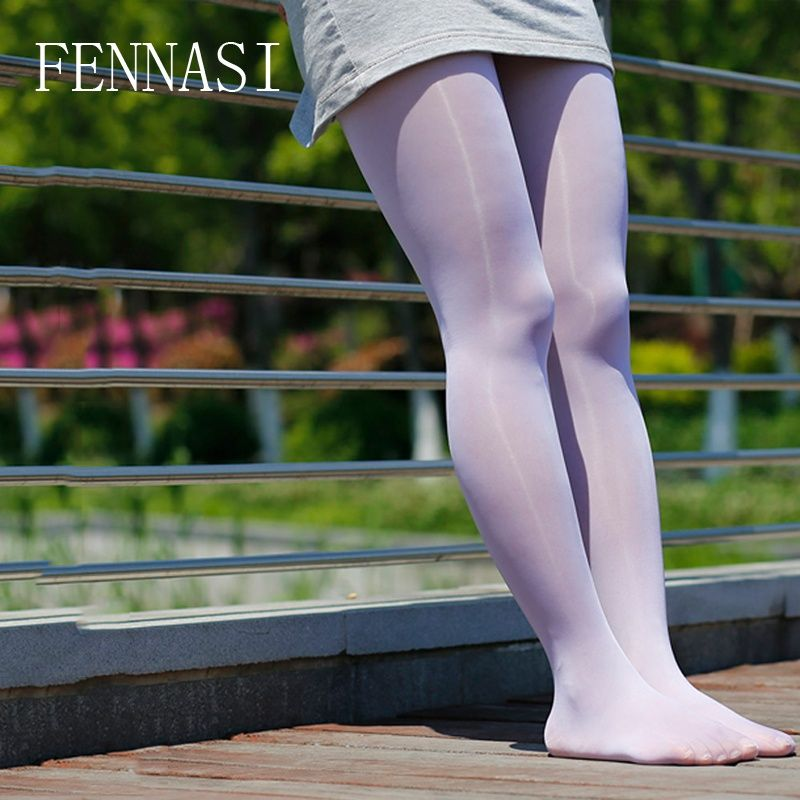 2b13d001b28 FENNASI Oil Glossy Women s Tights Oil Shiny Open Crotch Sexy Pantyhose  Crotchless Female Erotic Transparent White Black Tights