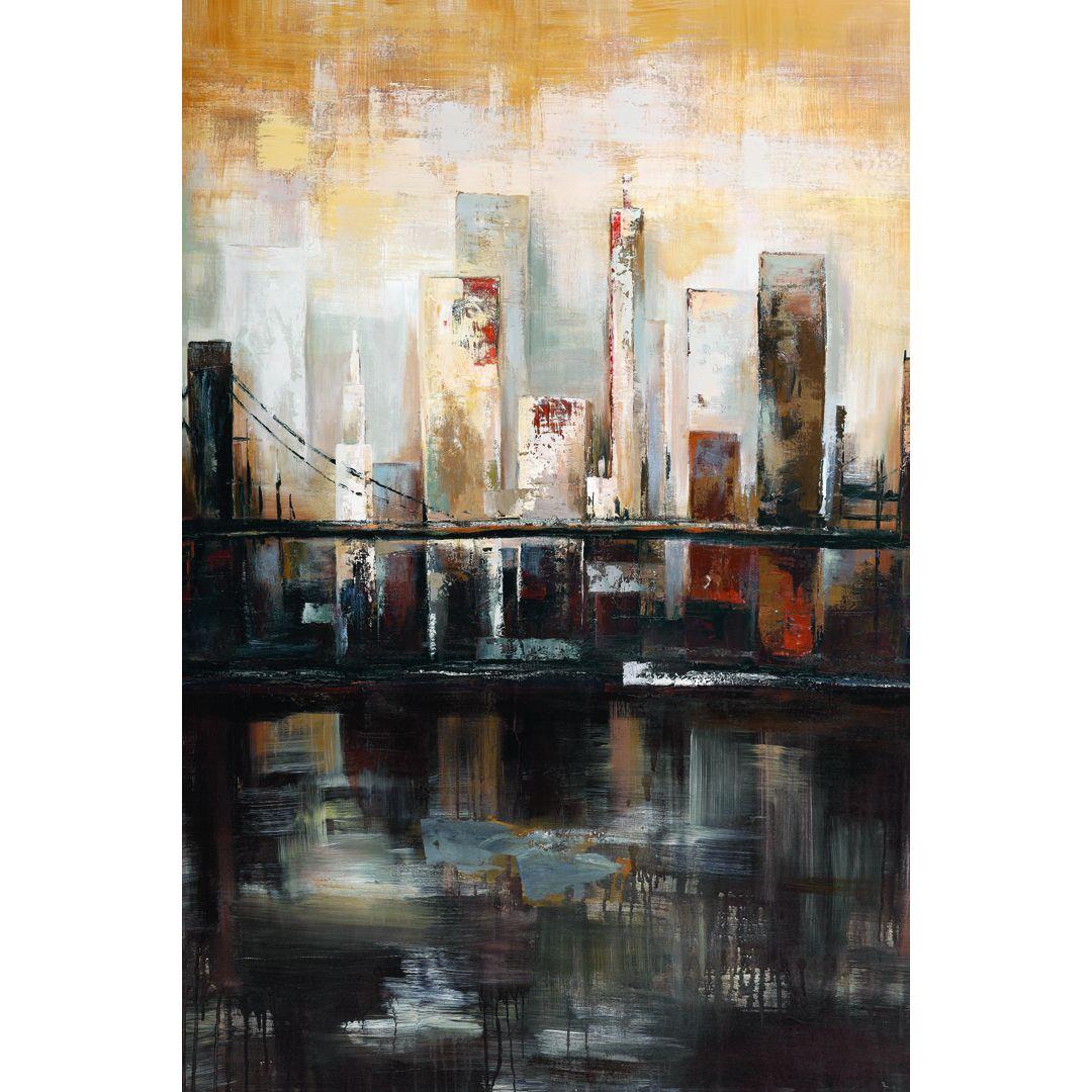 Portfolio Canvas Decor Sandy Doonan 'Tuesday's View' Framed Canvas Wall Art by…