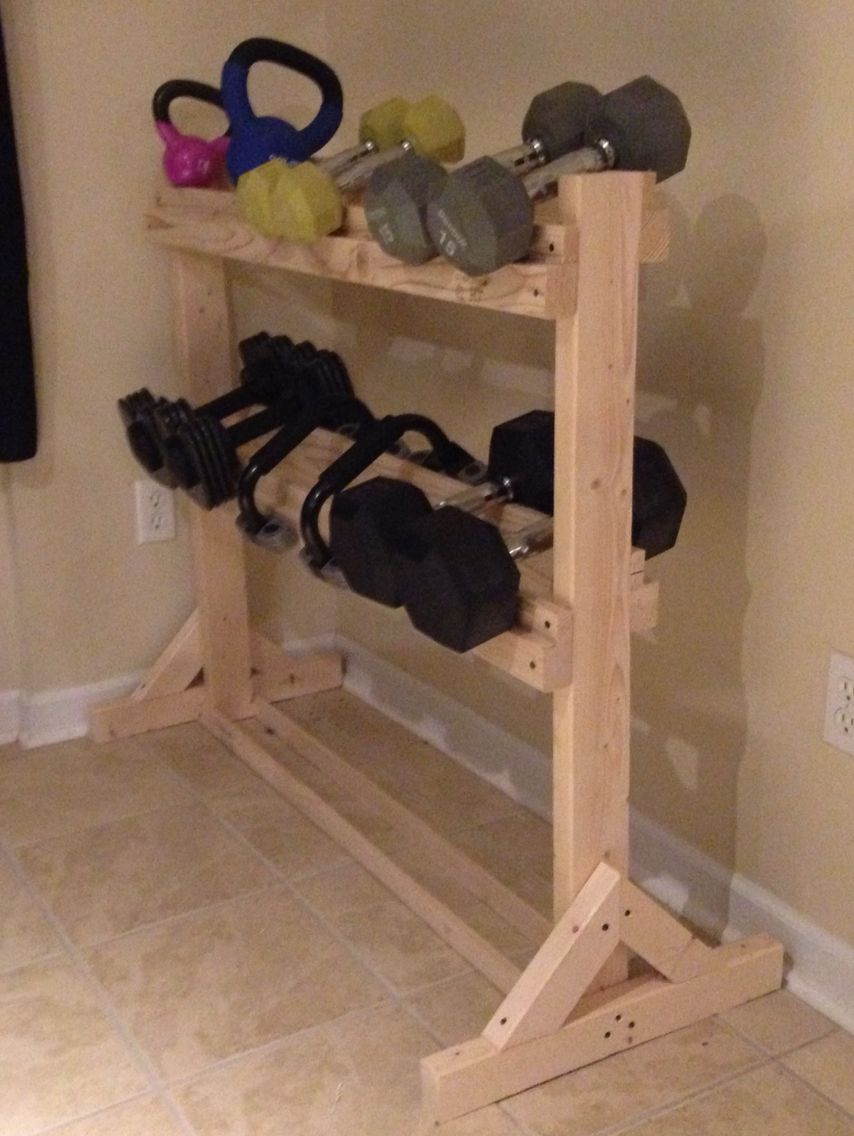 2x4 dumbbell rack my projects in 2019 diy home gym diy dumbbell
