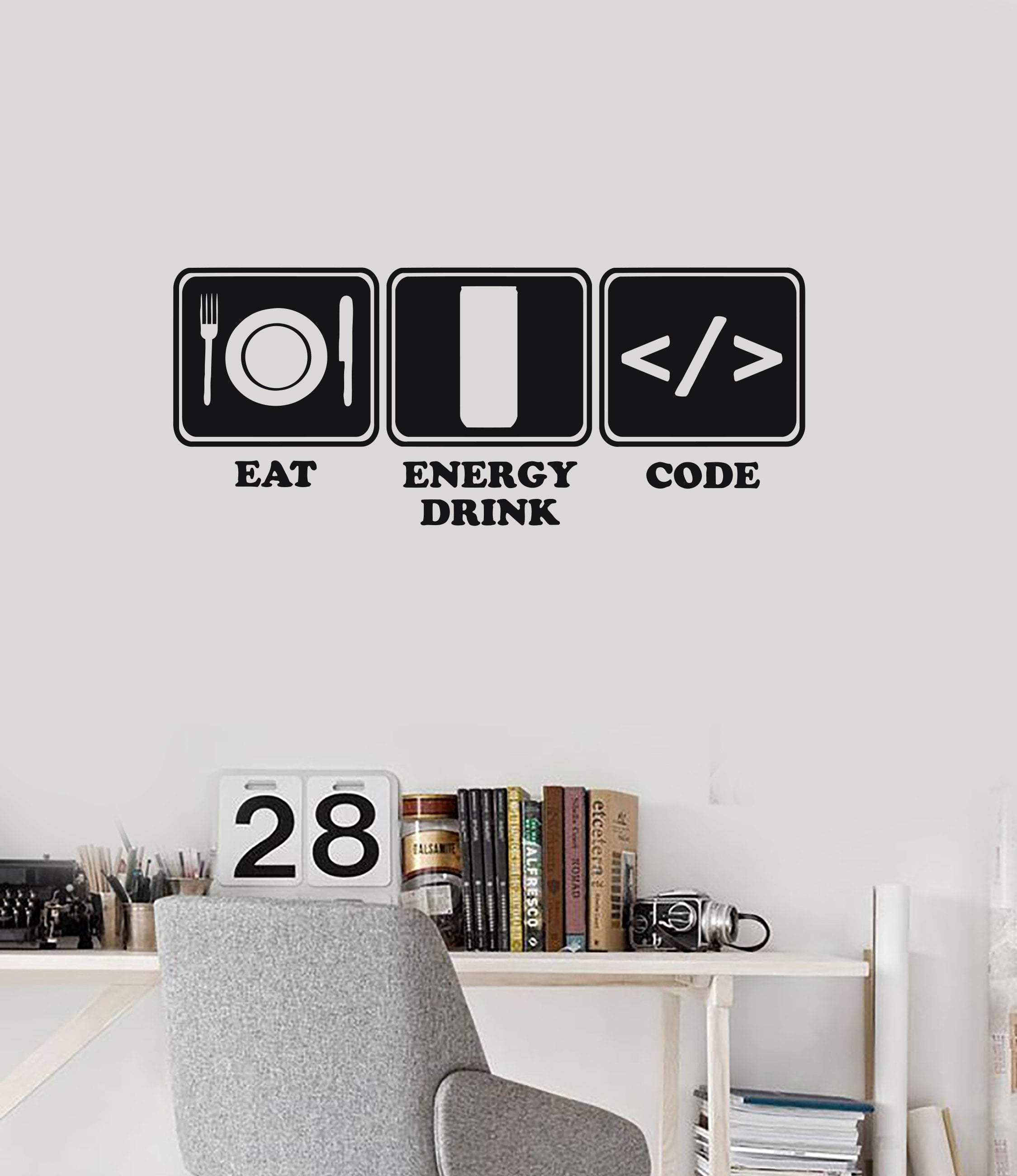 Vinyl Wall Decal Programmer Lifestyle Funny Programming Art Stickers Mural Ig5819 Vinyl Wall Decals Sticker Art Wall Decals