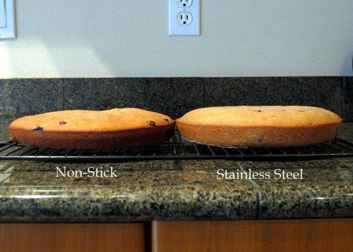 The Great Cake Tin Bake-Off: Stainless Steel vs. Non Stick | Not From A Packet Mix. #FODMAP #glutenfree #fructosefriendly #stainlesssteel #nonstick #tin #pan #experiment
