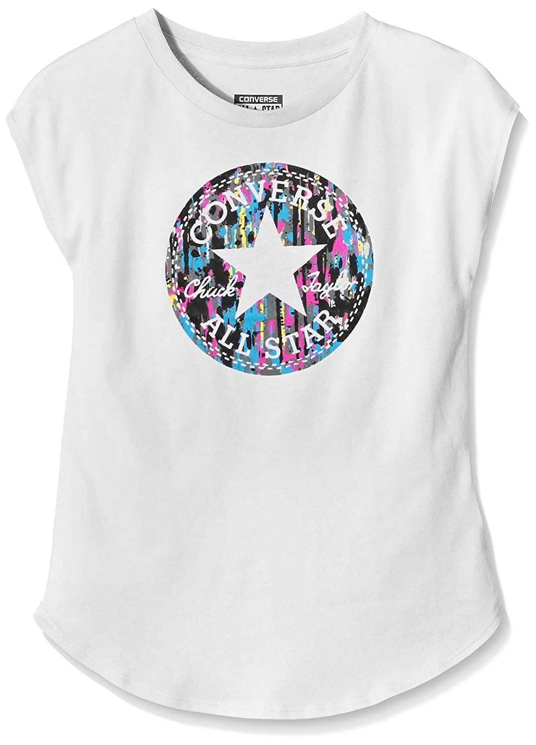 Converse girls dropped shoulder fitted tshirt girls
