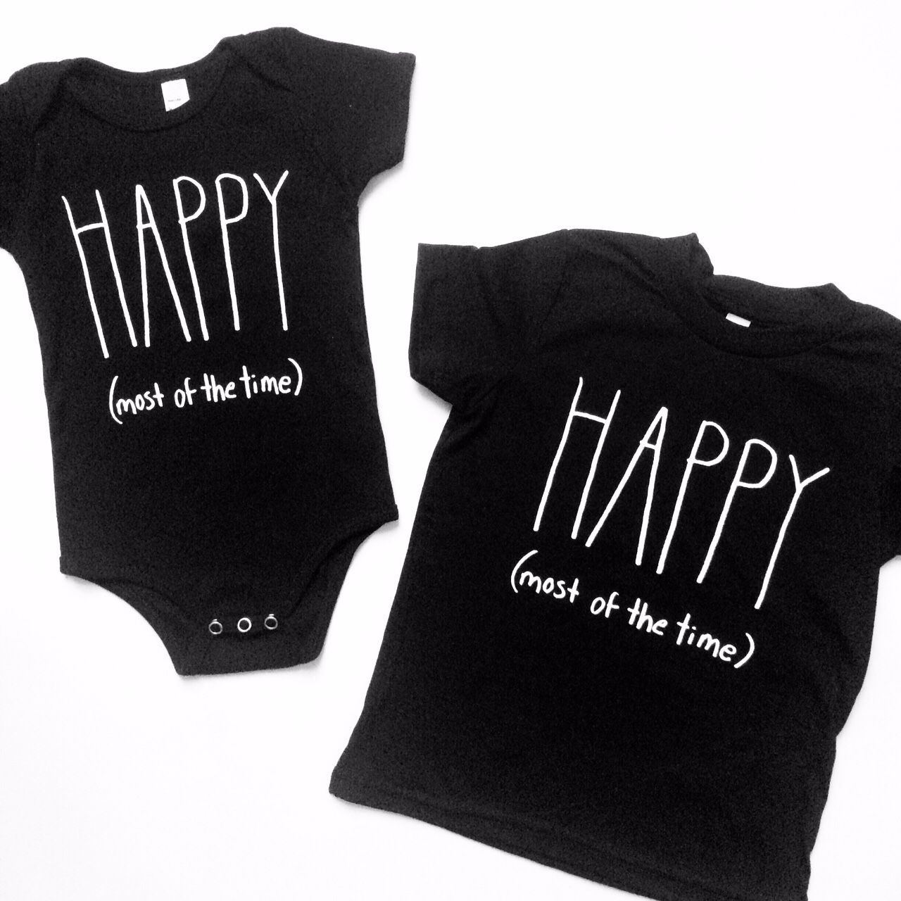 62709abf9 Happy (most of the time) baby one piece and toddler t shirt by ...