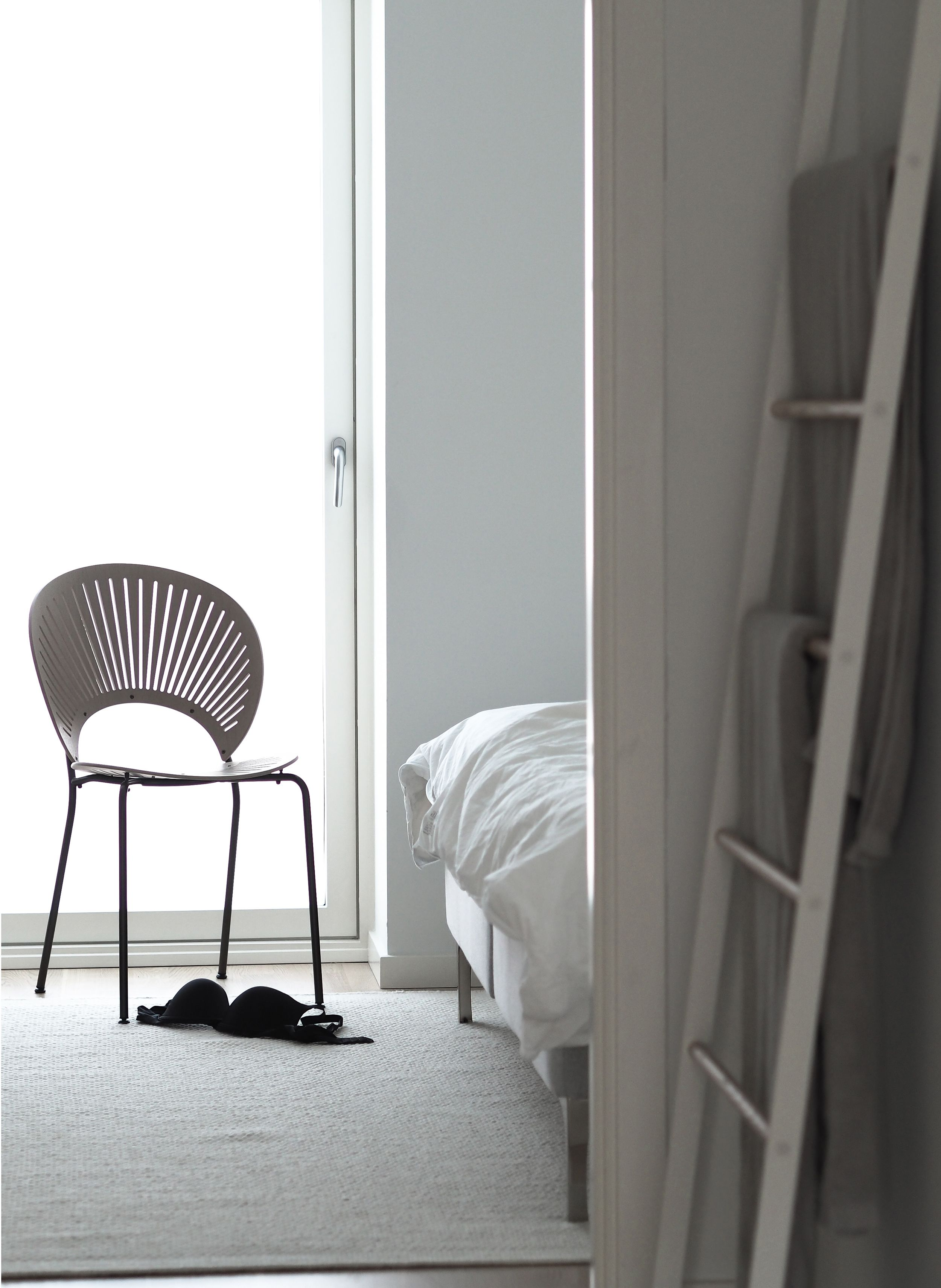 Fredericia the trinidad chair by nanna ditzel styled and shot hannah trickett hannahinthehouse in her minimalist bedroom also for  th rh pinterest