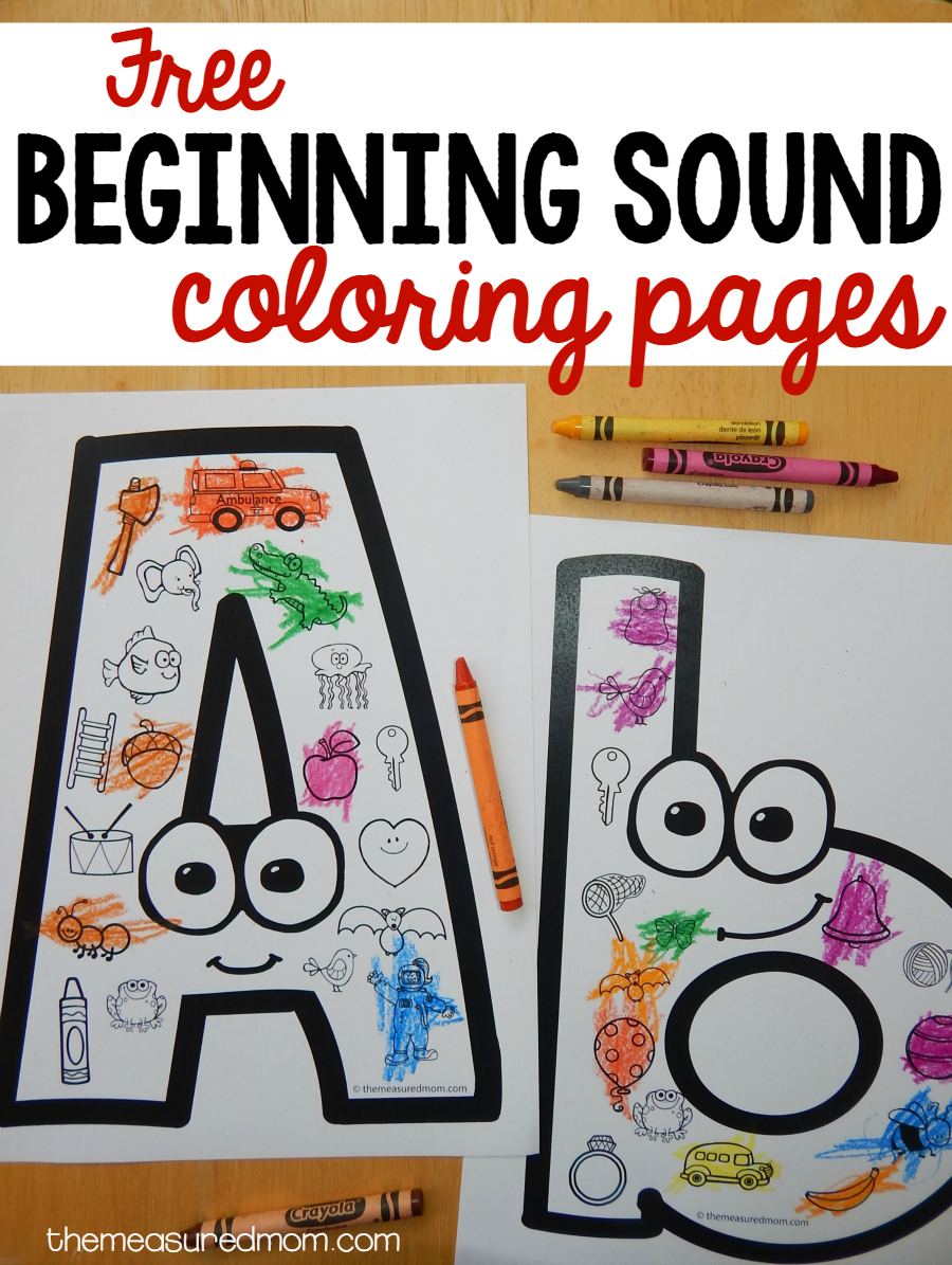 Beginning Sounds Coloring Pages Preschool Activities Alphabet Activities Alphabet Preschool [ 1195 x 900 Pixel ]