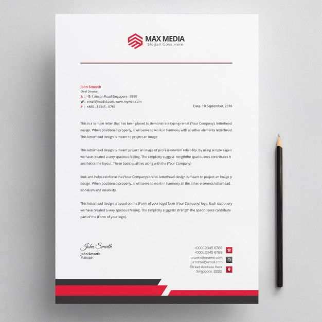 Aeolus Professional Corporate Letterhead Template 001024: Letterhead #letterhead #template #design #corporate