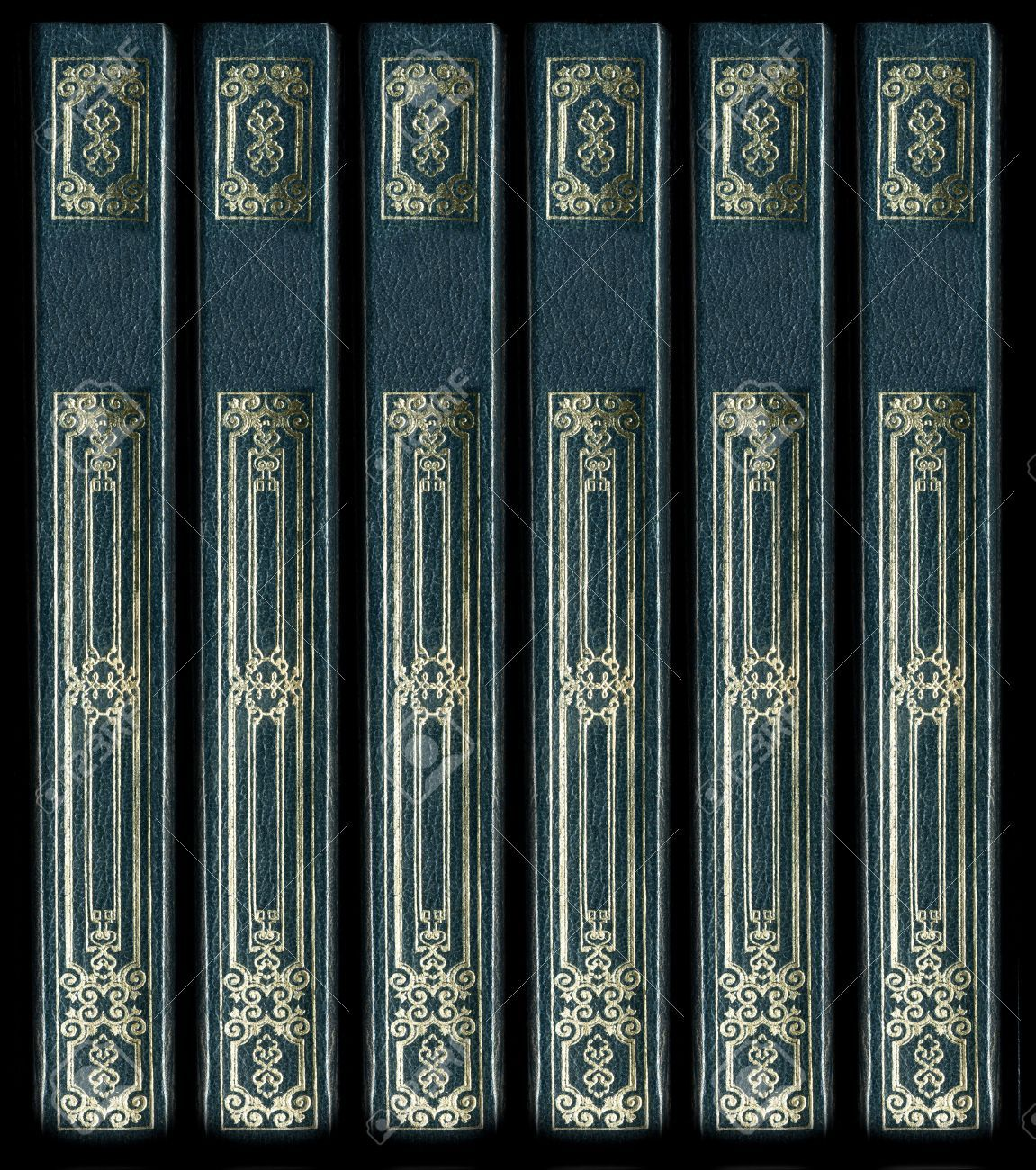 2190939-old-vintage-leather-book-spines-with-gold ...