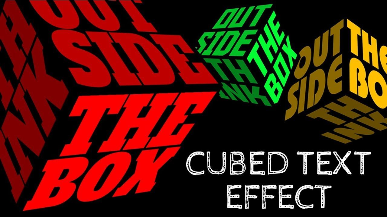 Photoshop: How to Create a 3-D, Cubed Text Effect - YouTube