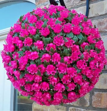 Rose Artificial Flower Hanging Basket