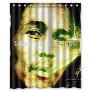 Buy Pretty Good Bob Marley Shower Curtain Pop Design In Cheap