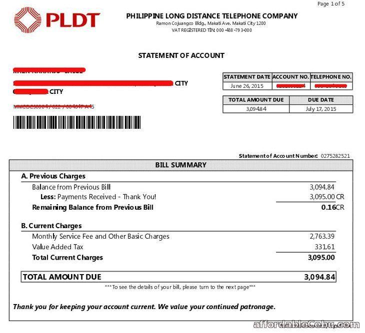How To Print Pldt Billing Statement Online Statement Online