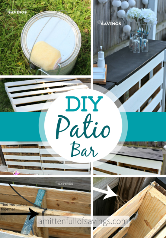 Pallet Bar Table DIY Quick And Easy Video Instructions | Camper ...