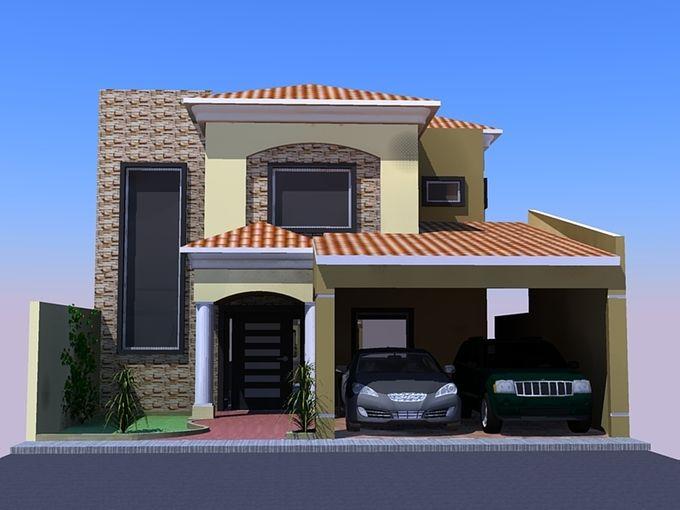 Entradas con columnas redondas buscar con google for Casas modernas redondas