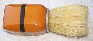 VINTAGE ANTIQUE GOLD & BLACK COLOR BAKELITE HANDLE SHAVING MUG BRUSH | eBay