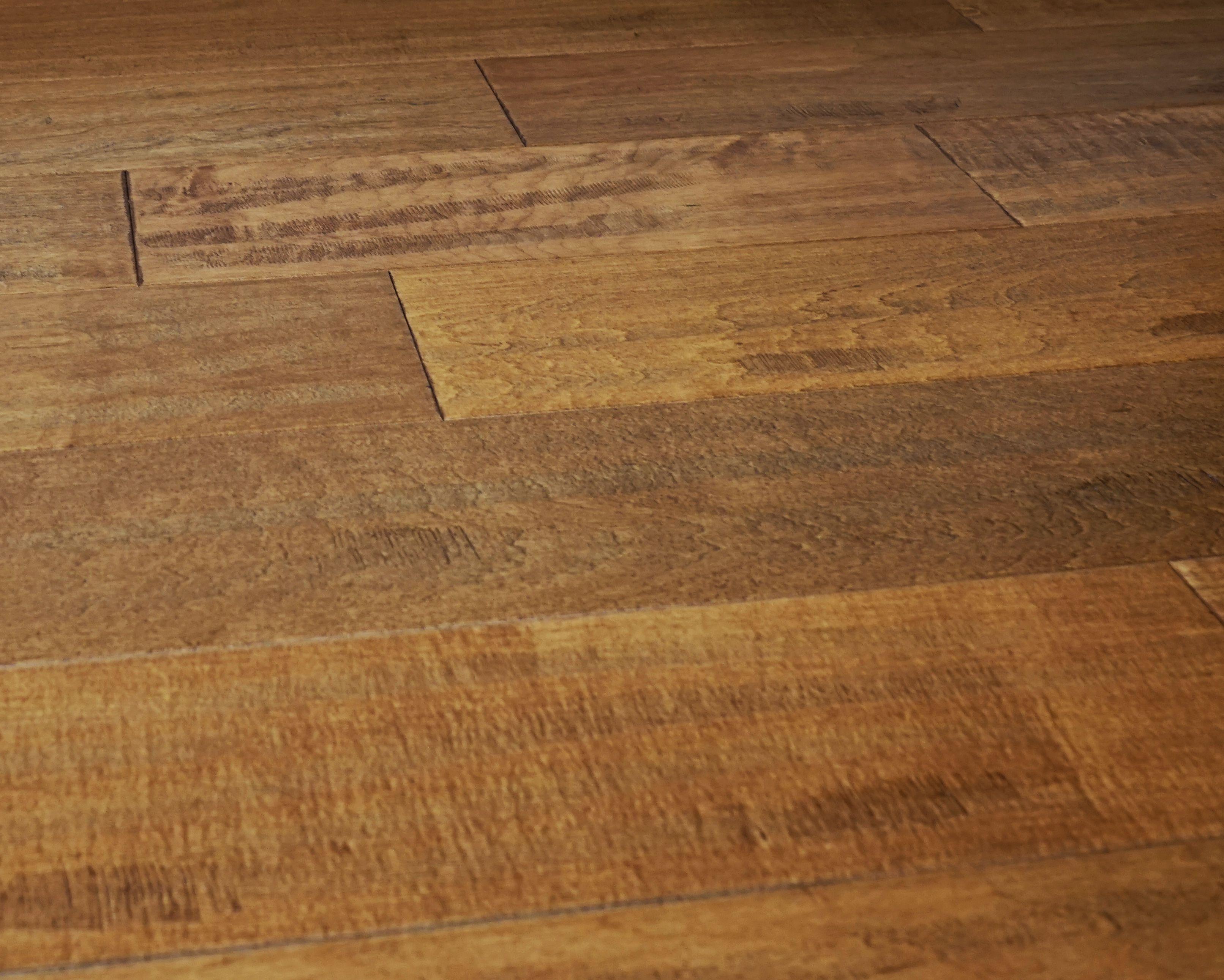 Everyday Flooring 5 Inch X 1 2 Solid Engineered Hardwood Wood In Cinnamon Light Brown Hand Sed 59 Sq Ft