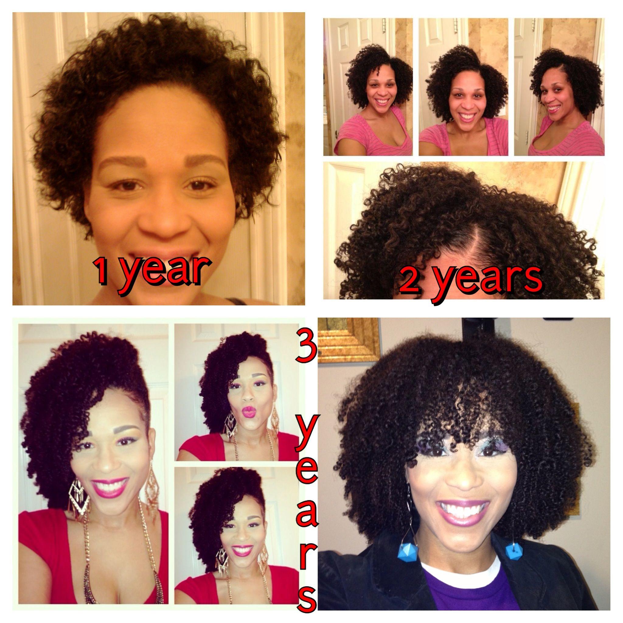 3 years natural hair growth