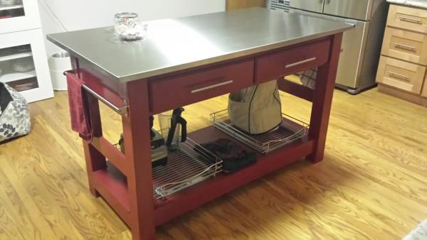 My Stainless Steel Kitchen Island Stainless Steel Kitchen Island Kitchen Island Diy Plans Kitchen Island Stainless Steel Top