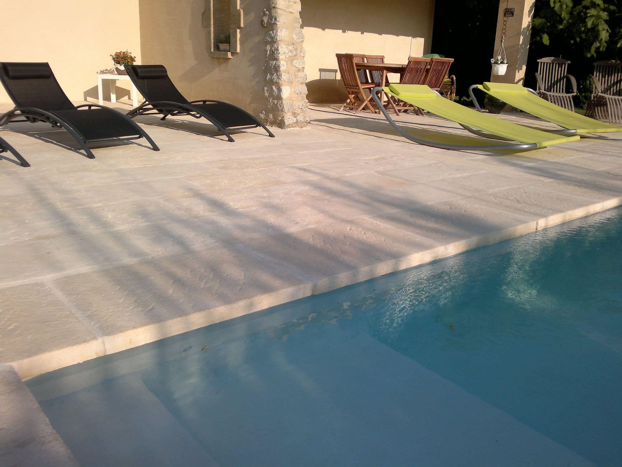 Concrete Swimming Pool Coping Margelle Massive Ocrée