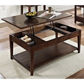 Crosby Mocha Cherry Lift Top Coffee Table With Casters By Greyson Living By  Greyson Living