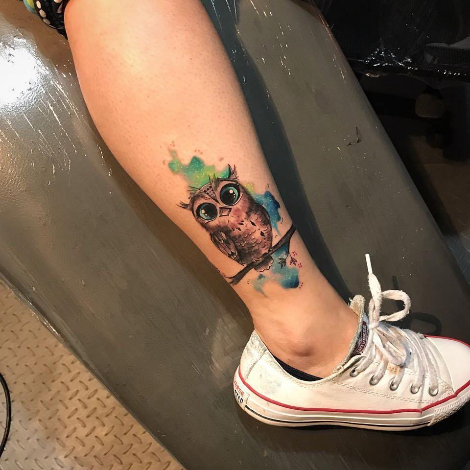 Búho Estilo Acuarelas Tattoos Pinterest Tattoos Tattoo