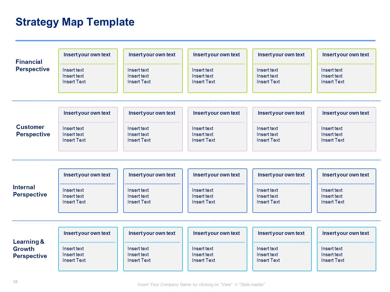 strategy map & balanced scorecard | operational excellence, Modern powerpoint