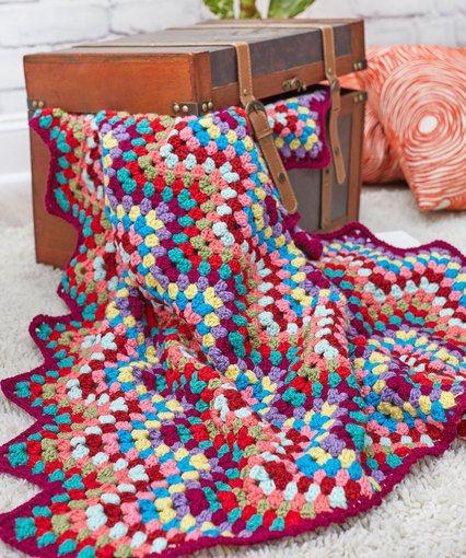 Throw-back Granny Chevron Afghan By Ellen K. Gormley - Free Crochet ...