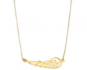 Złoty Naszyjnik Z Kolekcji Indali Apartlekki Jak Piórko Biżuteria