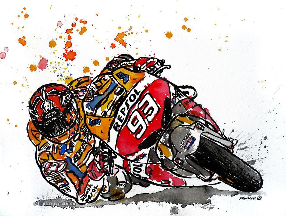 MARC MÁRQUEZ, 2013 MOTOGP WORLD CHAMPION · Marc Márquez, campió del món MotoGP 2013  (Illustration made by Francesc Palomas)