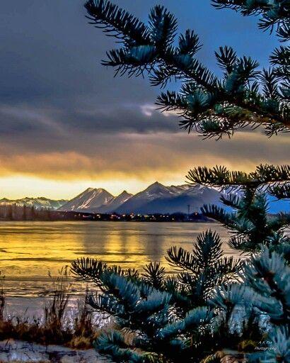 Summer Night At Wasilla Lake Photograph by Dora Miller |Wasilla Alaska Landscape