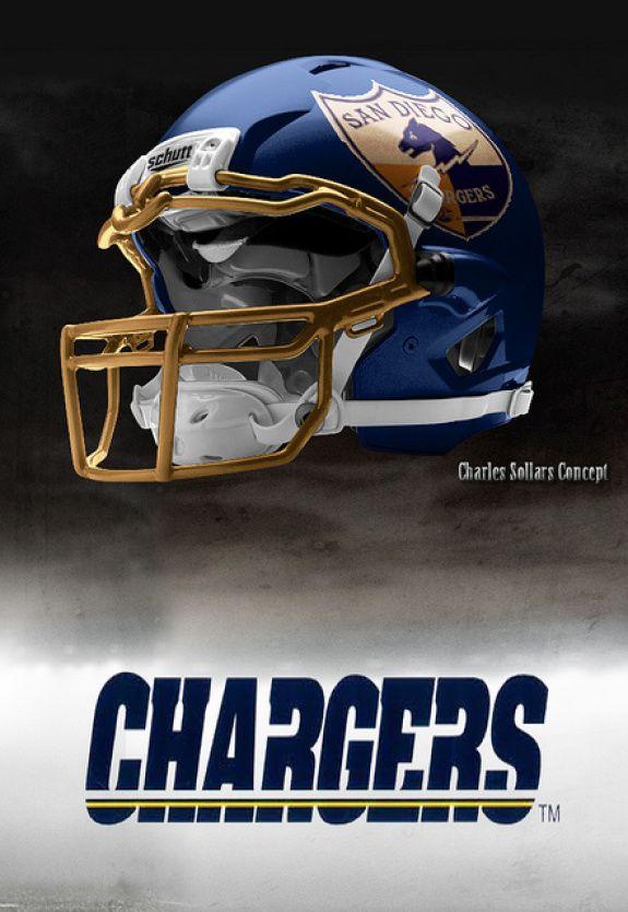 San Diego Chargers Helmet Uniform Logo Concepts The Penalty Flag Football Helmets Chargers Football New Nfl Helmets