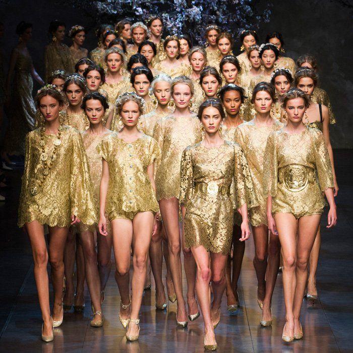 Sara Pink partage avec nous les tendances de l'été 2014 sur trendle.net !! #trends 2014 #fashionshow #dolce&gabanna #goldlook
