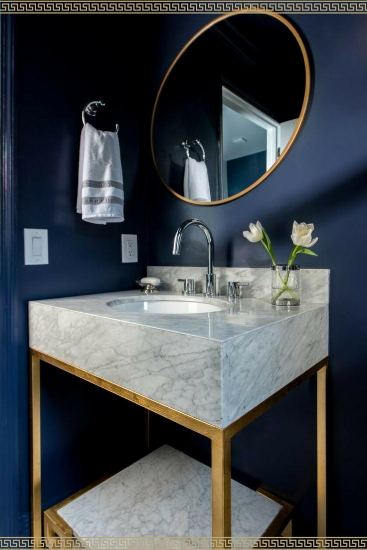 Fixing Water Leaking From Upstairs Bathroom To Downstairs 101 Bathroom Interior Design Diy Vanity Mirror Blue Powder Rooms
