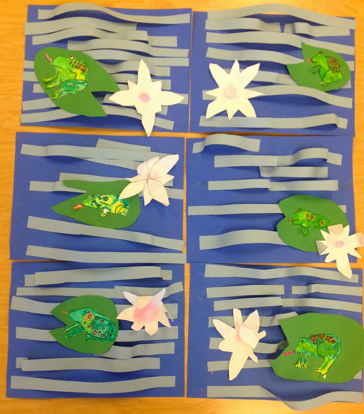 Frogs In Monet S Pond 2nd Grade Art With Mr Giannetto