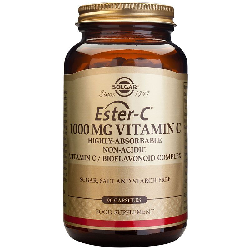 Solgar EsterC 1000mg Vitamin C 90 Capsules (With images