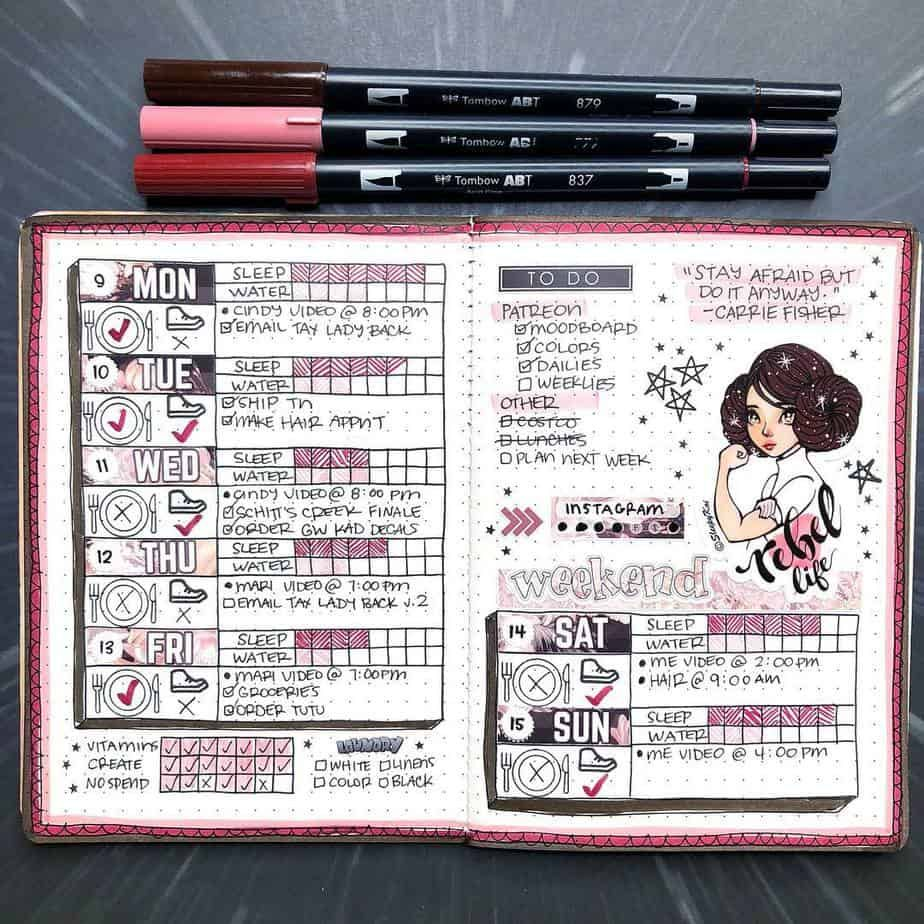 Out Of This World Star Wars Bullet Journal Theme Inspirations