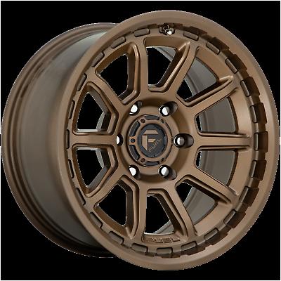 "Fuel D690 17"" Inch 6x139.7 4 Wheel Rims 17x9 12mm BRONZE"