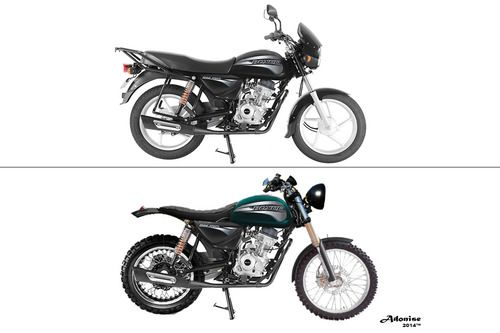 150cc Bajaj Boxer (Scrambler, Cafe Racer Vs.) Diseño 2014