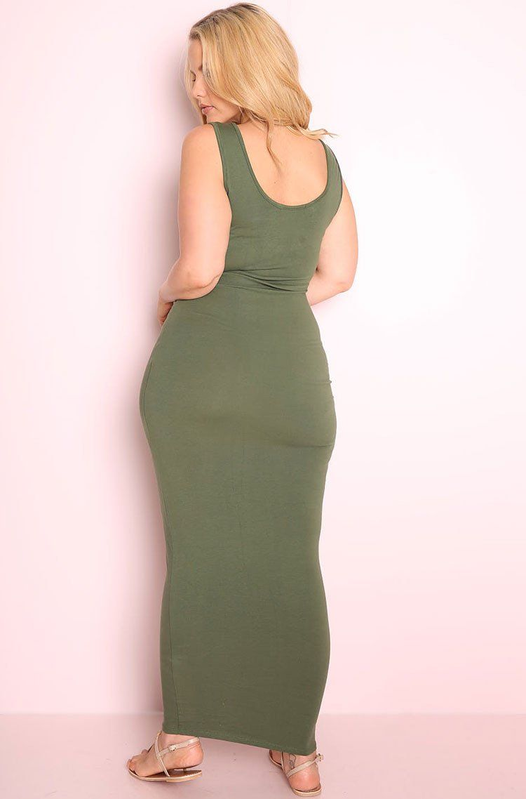 """Rebdolls """"Don't Have The Time"""" Tank Maxi Dress"""
