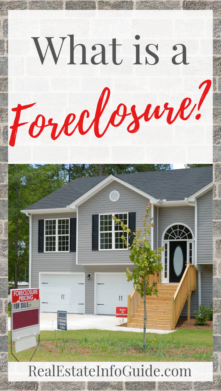 What Is A Foreclosure Real Estate Info Guide Foreclosures Real Estate Home Buying