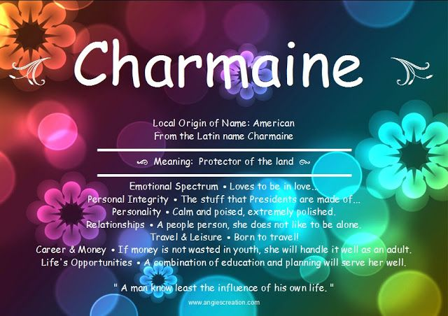Angies Creation: Search results for Charmaine | Names with ...
