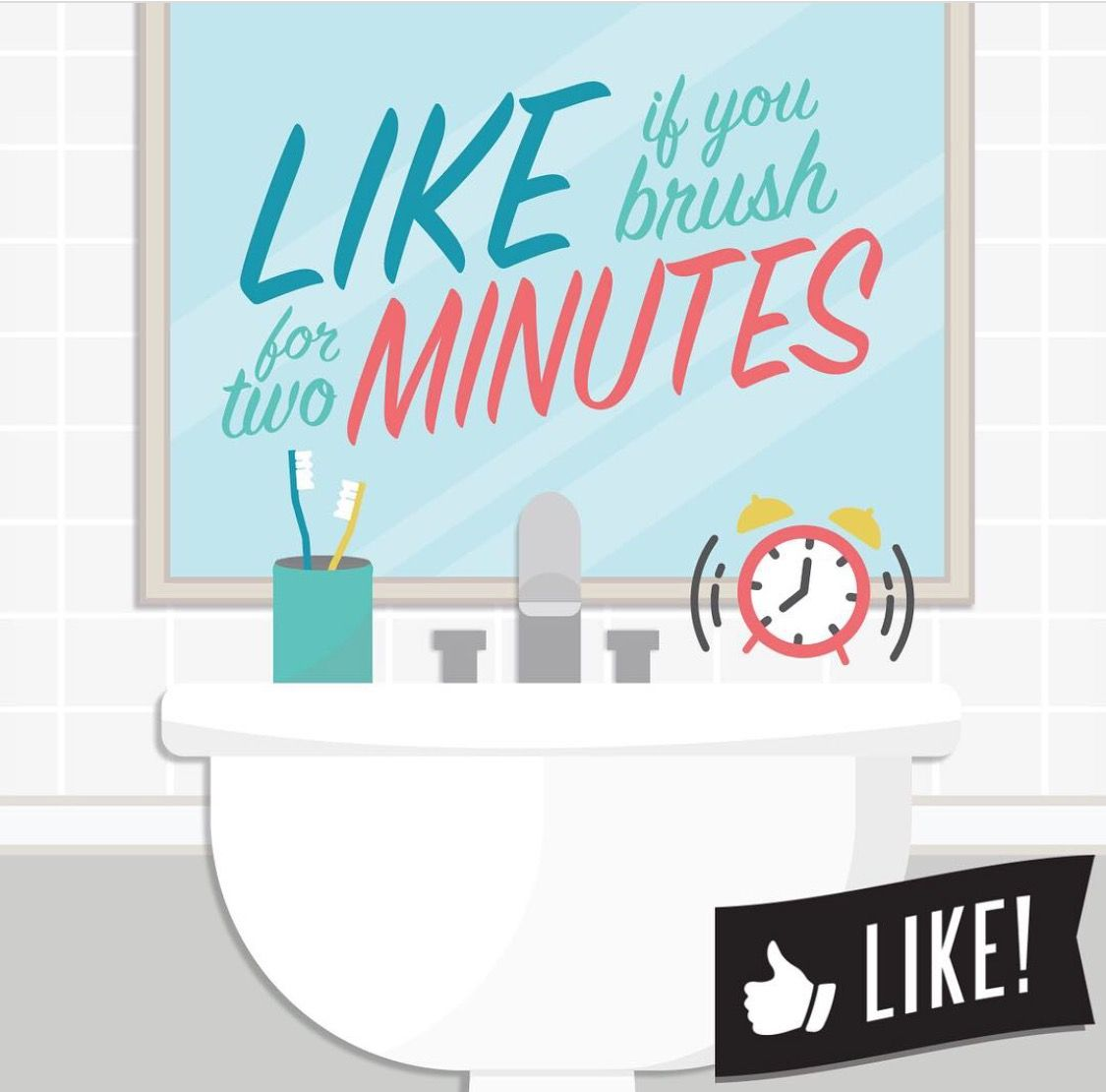 It's Dental Hygiene Month! LIKE THIS POST if you brushed for two minutes today! www.fresnosmilemakeovers.com #dentalhygiene #dentist#dentalappointment #dentalhygienist #dentist #smile #invisalign #fresno #clovis #fresnosmilemakeovers #FSM #orthodontics #prophy #dentista
