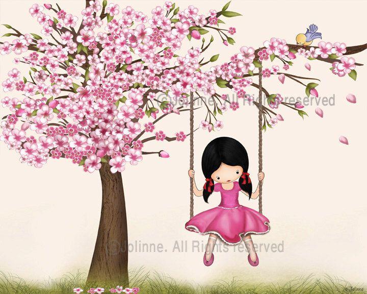 https://etsy.me/2ltCosB #housewares #homedecor #babyshower #kids #girlsroomposter #cherryblossomart #granddaughtergift #childrensdecor #cherryblossomkids #etsy #etsygifts #etsyfinds #myetsyfind! #etsyshop #etsyuk #etsyca #etsysuccess #etsy_exposure